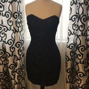 NWOT Sexy Denim Mini Strapless Dress 8